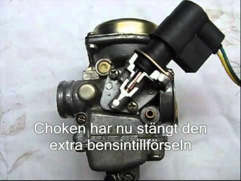 fonctionnement du starter automatique sur carburateur cvk scooter chinois 4t. Black Bedroom Furniture Sets. Home Design Ideas